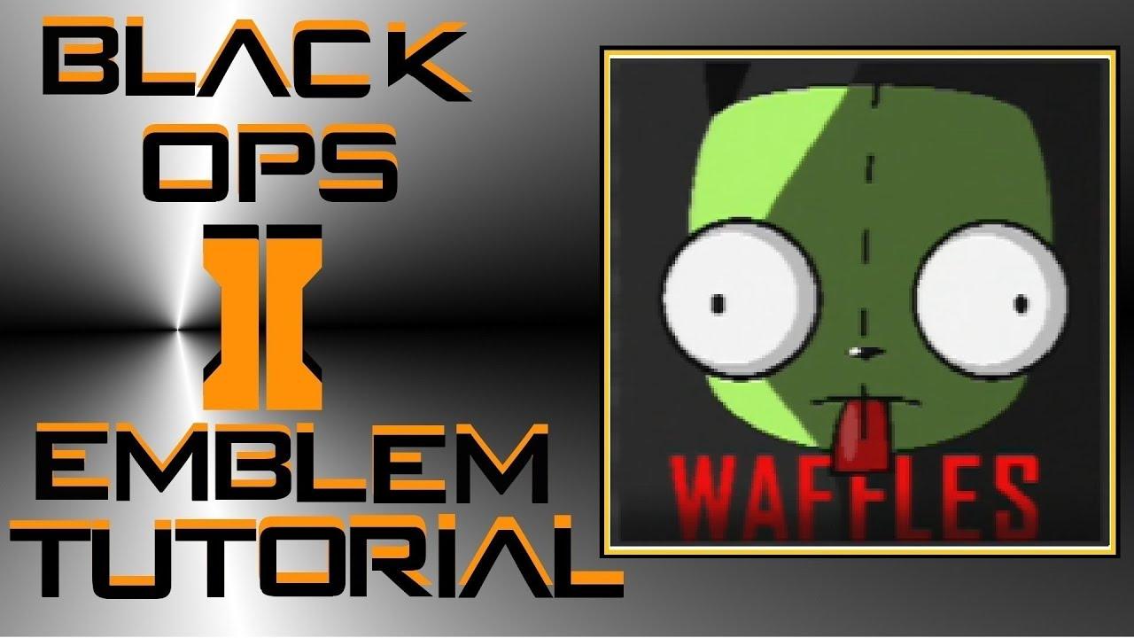 Call Of Duty Black Ops 2 Invader Zim Gir Emblem Tutorial