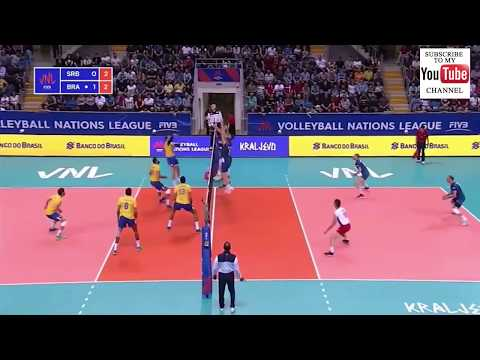 Brazil vs Serbia VNL 2018 - Full Match Highlights - HD