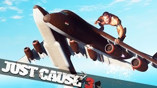 JUST CAUSE 3 CARGO PLANE WRESTLING!! :: Just Cause 3 Multiplayer Stunts!