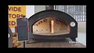 accensione a Gas FORNO BRAVO  video cronometro temperatura platea