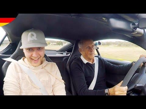 REAKTION, erste mal Beifahrer mit Rennfahrer-Legende - Hans-Joachim Stuck im Porsche 718 Cayman GTS