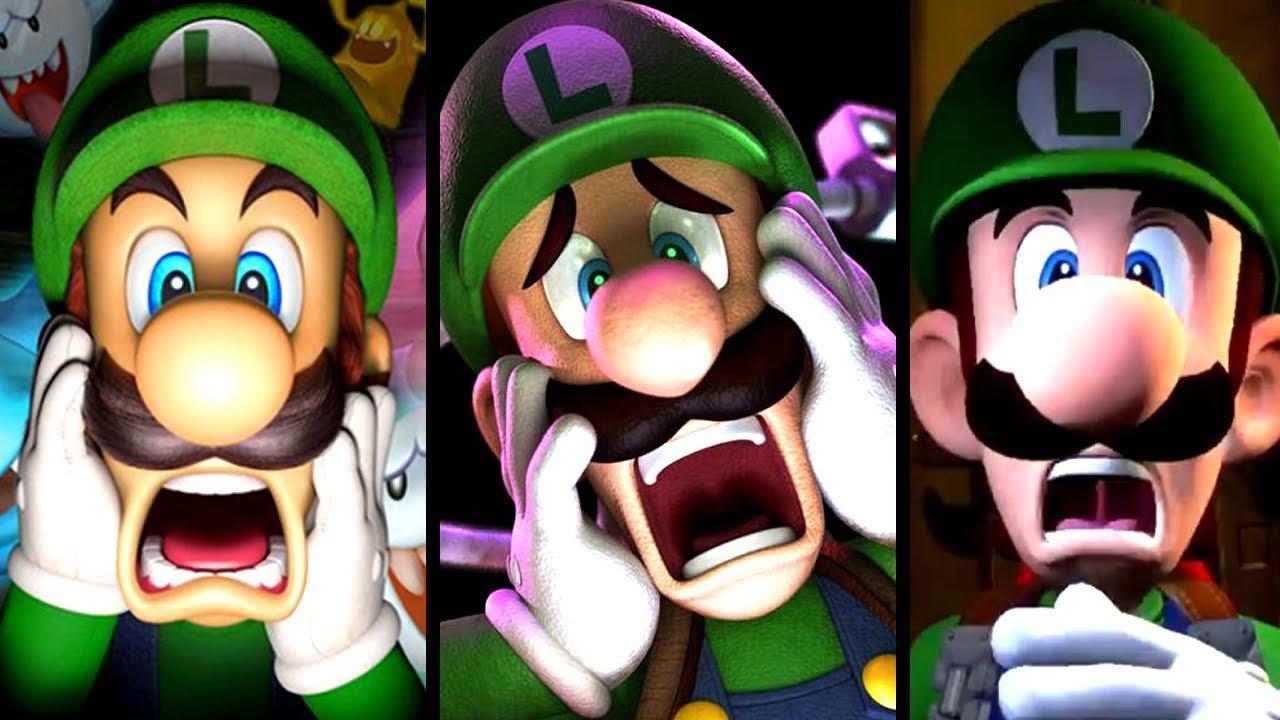Luigi's Mansion Evolution of INTROS 2001-2018 (GC to Switch)