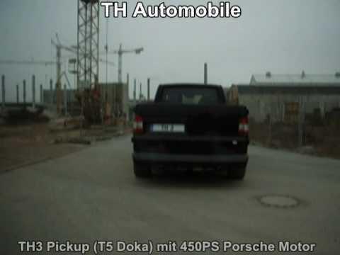 th3 pickup vw t5 pritsche mit 450ps porsche 996 turbo. Black Bedroom Furniture Sets. Home Design Ideas