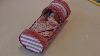 How To Make A Miniature Cradle Using Toilet Tissue Tubes