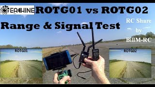Eachine ROTG01 vs ROTG02 vs DVR Review -  FPV Receiver Range & Signal Tests