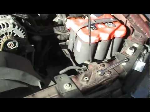Chevy Trailblazer V8 Optima Battery Installation And 25 F Cold Start