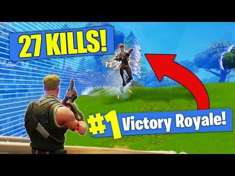 *NEW KILL RECORD* 27 SOLO Kills In Fortnite - Battle Royale!!