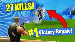*NEW KILL RECORD* 27 SOLO Kills In Fortnite - Battle Royale!!