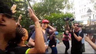 Trump supporter kicked out of Black Lives Matter rally
