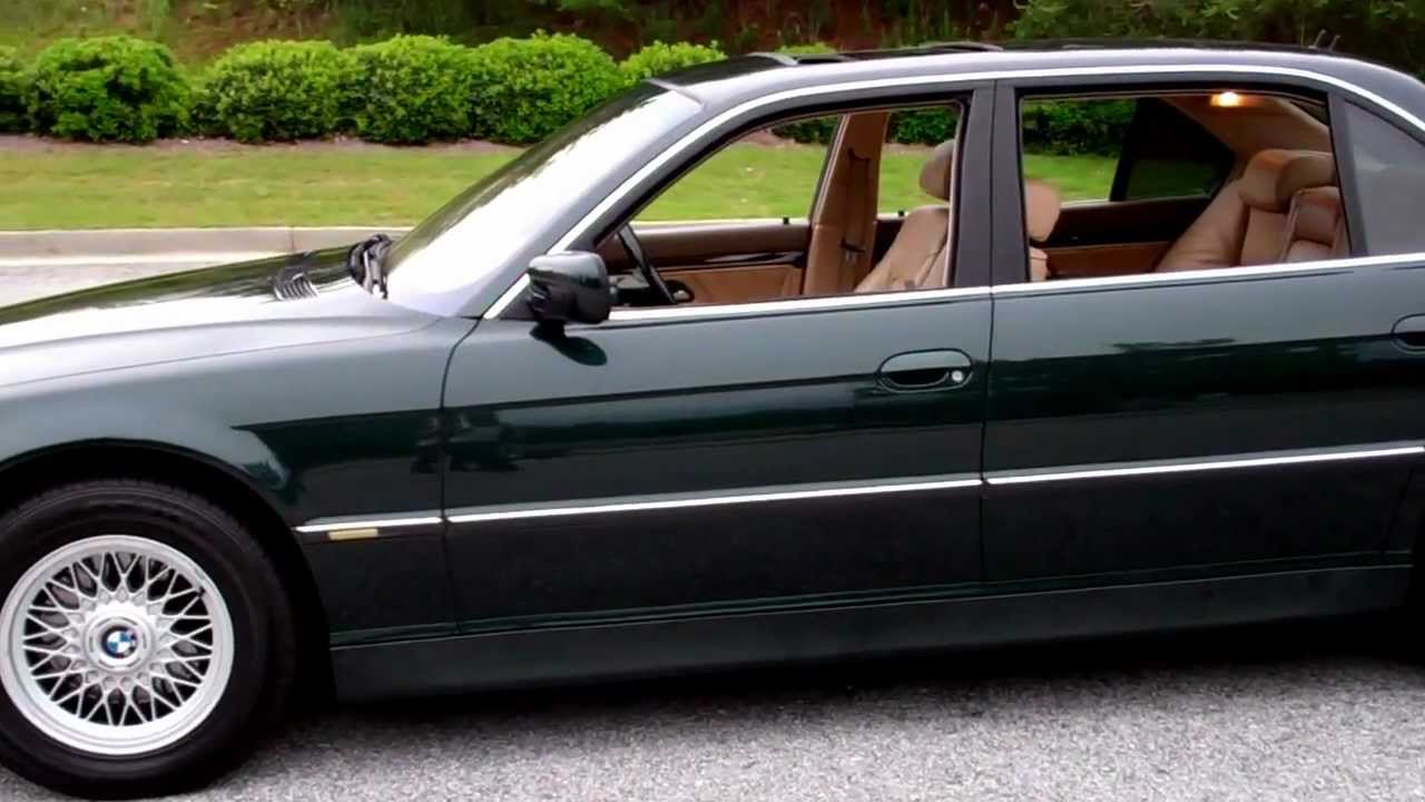 2001 bmw 740il stunning color combination midnight metalic green with tan interior [ 1280 x 720 Pixel ]