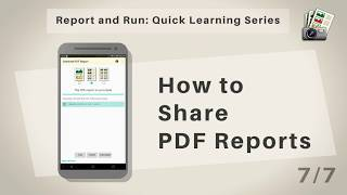Quick Learning Series (Android): Sharing PDF Reports (7/7)