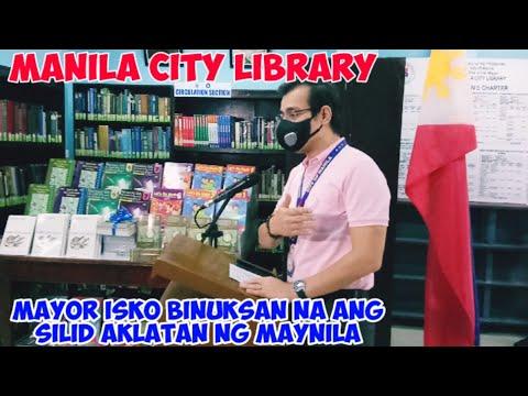 MANILA CITY LIBRARY BINUKSAN NA,KAKAIBA KA TALAGA MAYOR ISKO!!