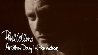 Phil Collins - Another Day In Paradise (Official Music Video)(Phil Collins'