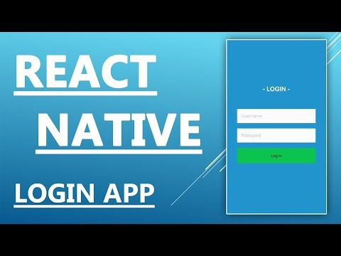 React Native Tutorial  - Create a Login System Application With Memberarea Part 1