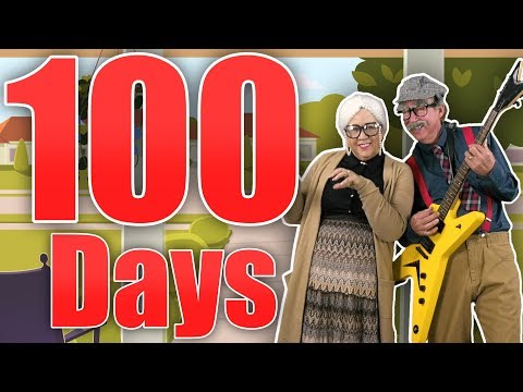100 Days of School with Grandma and Grandpa! | Count to 100 | Jack Hartmann
