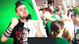 Irish People Watch St. Patrick's Day Fights Top 10 Video