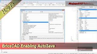 Bricscad Enabling Autosave Basic Tutorial For Beginner