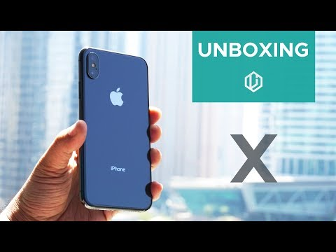 iPhone X with FaceTime in Dubai Unboxing