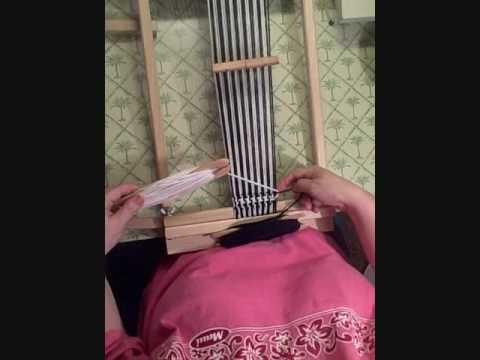 Pinwheel Houndstooth Pattern on Rigid Heddle Loom Weaving