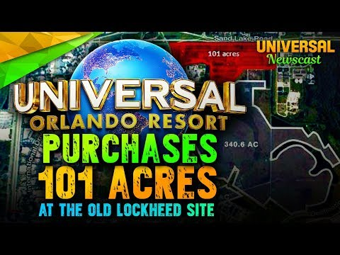 Universal buys 101 Acres of land in Orlando!! - Universal Studios News 11/01/2017