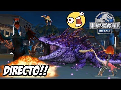 DIRECTO! NUEVO DINOSAURIO VOLADOR Y PELEAS DINOS! // Jurassic World: El Juego - JUEGO DINOSAURIOS HD