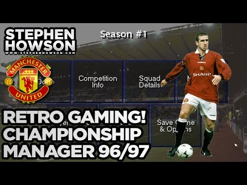 Retro Football Manager 1996-97 Season! | Manchester United | Eric Cantona, David Beckham
