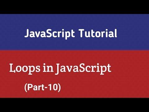 JavaScript Tutorial In Hindi   Loops In JavaScript (Part-10) thumbnail