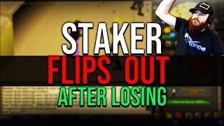 Staker Flips Out After Losing, Extremely Rare Clue Drop, He Gets 200M Runecrafting Xp OSRS