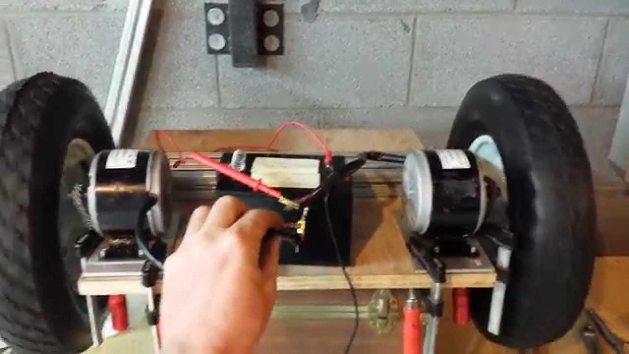 2 wheel balancing platform diy segway testing sprocket