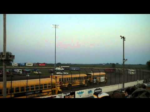 School Bus Racing at the Lee County Speedway