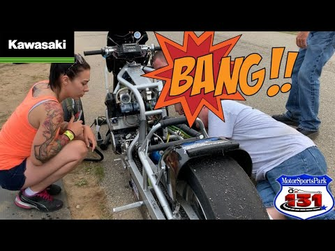 EPIC DRAG BIKE ENGINE EXPLOSION AT TOP SPEED DURING TOP GAS MOTORCYCLE DRAG RACE! NITROUS HAYABUSA!