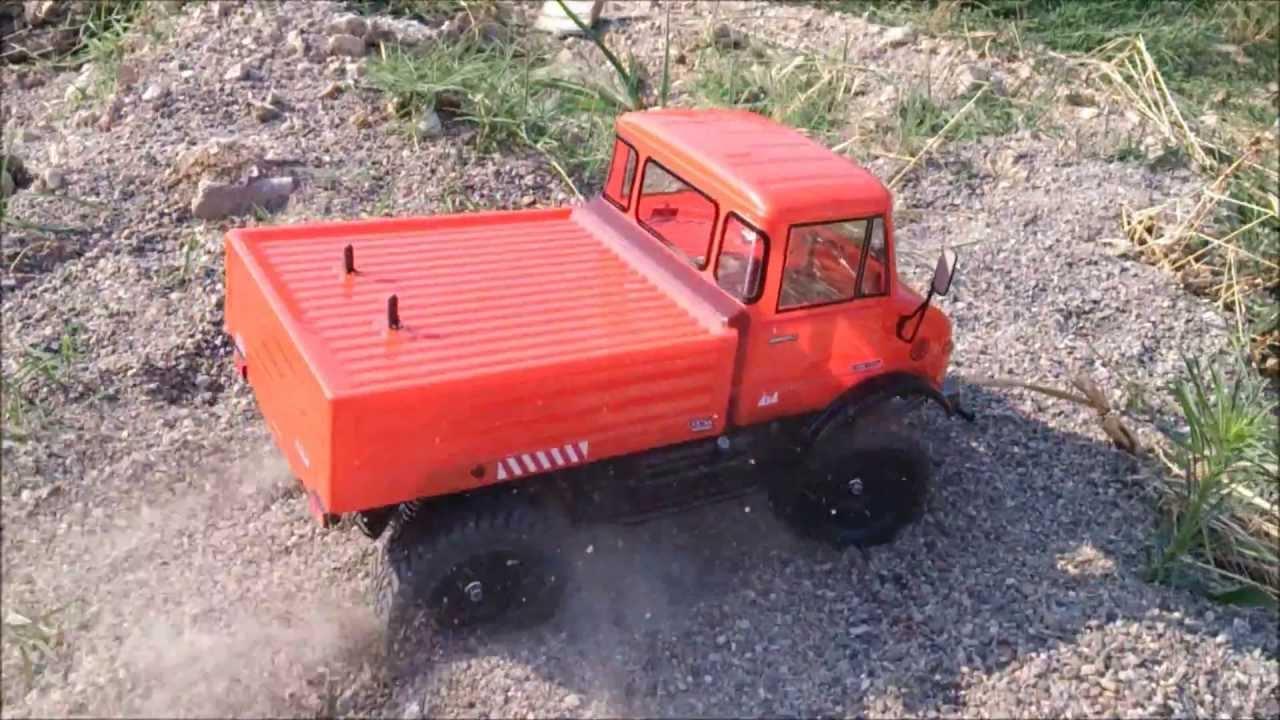 tamiya cc-01 mercedes benz unimog 406 (akıncı rc model) - youtube