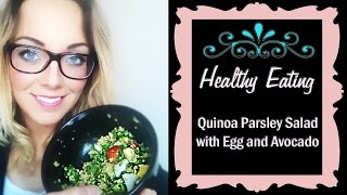 Quinoa Parsley Salad With Egg And Avocado