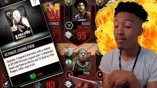 PULL UNRELEASED LEGENDS IN THESE PACKS? 99 DR.J VS 99 PAUL PIERCE! (NBA LIVE MOBILE)