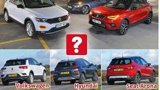 New Hyundai Kona & Volkswagen T Roc vs Seat Arona