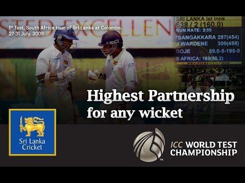किसी भी विकेट के लिए सबसे अधिक भागीदारी | महेला जयवर्धने और कुमार संगकारा