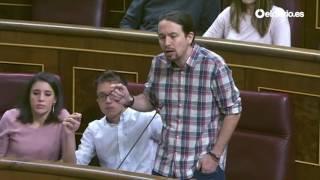 """Pablo Iglesias a Rajoy: """"Está más preocupado por lo que piensa Angela Merkel que por el Parlamento"""""""