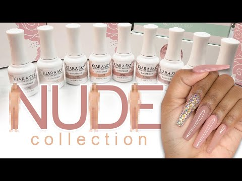 Testing Nude Collection From Kiara Sky DIY Nails