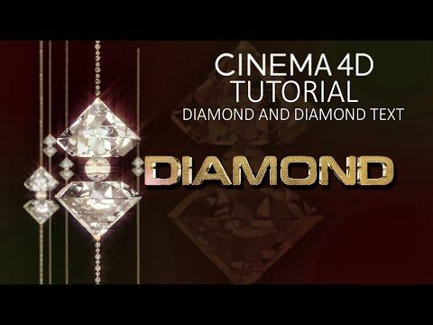 CINEMA 4D TUTORIAL - Diamond and Diamond Text