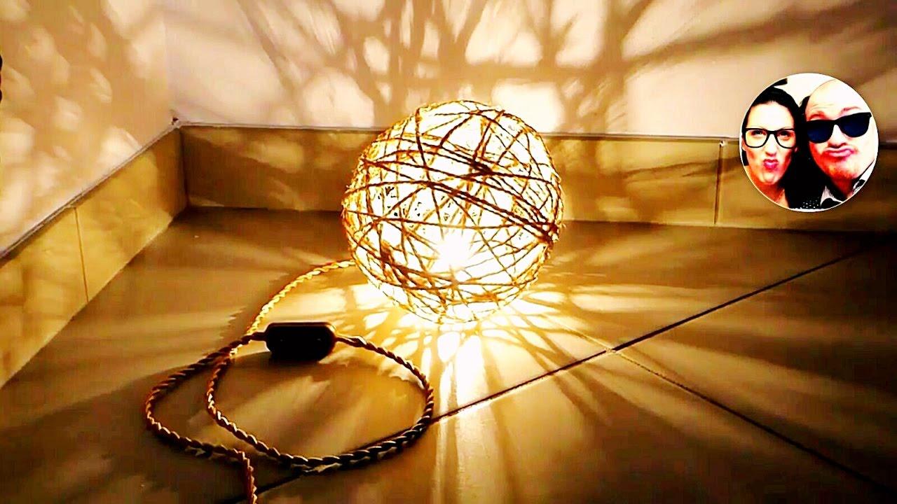Lampadario Con Filo Di Lana : Lampada fai da te con spago lamp made of string💡💡💡 youtube