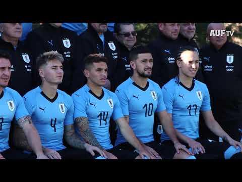 Backstage de la foto oficial de Uruguay para Rusia 2018