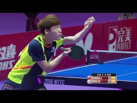 2016 WTTTC MT-SF CHN-KOR (3) Zhang Jike - Jang Woojin (full match|short form in HD)
