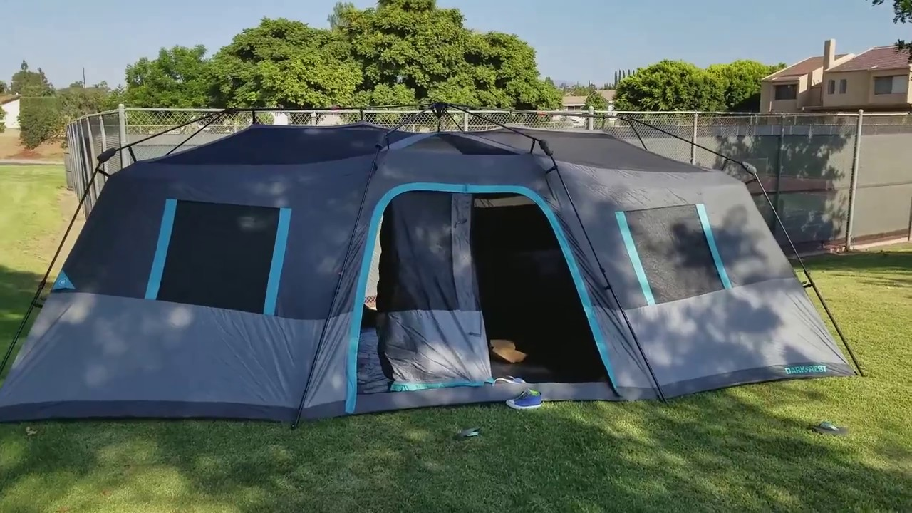 Ozark Trail Dark Rest 12 Person Tent Youtube