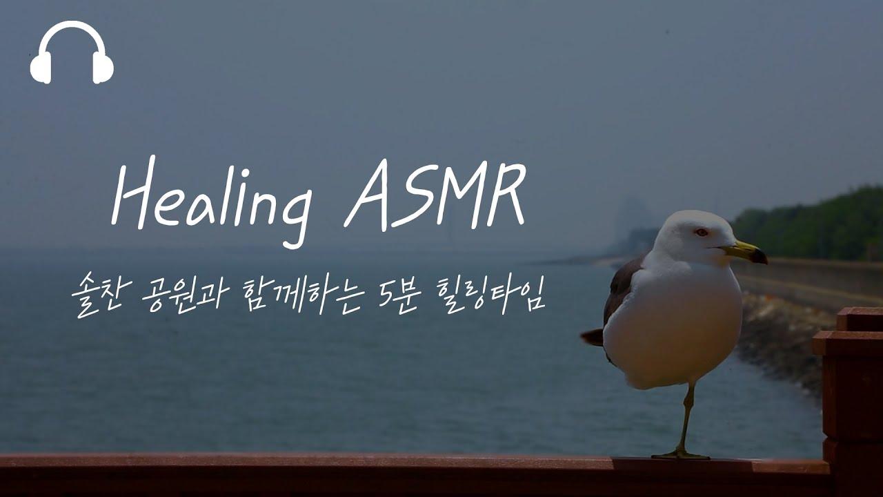 [ASMR] 힐링하기 좋은 자연의 소리ㅣ#솔찬공원ㅣ#이어폰 #5분 #Relaxing