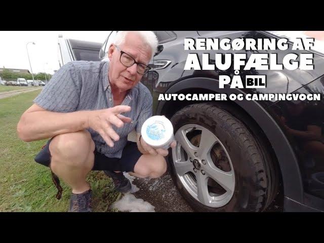 Rengøring af alufælge på bil, autocamper og campingvogn