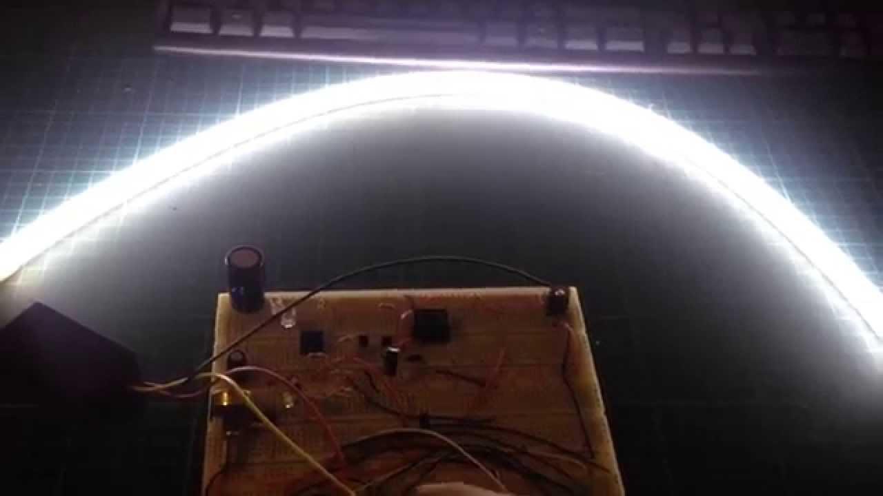 LED導光條測試 - YouTube