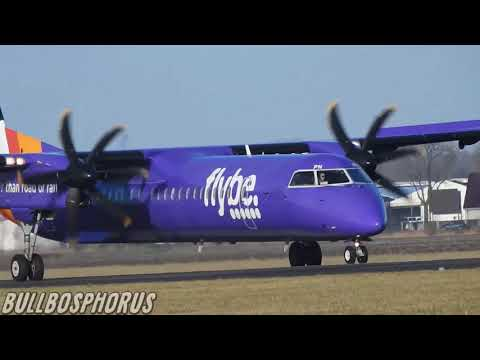 BOMBARDIER DASH 8, AIRPLANE LANDING AMS AIRPORT, BOMBARDIER AIRCRAFT REGISTRATION (G-PRPN)