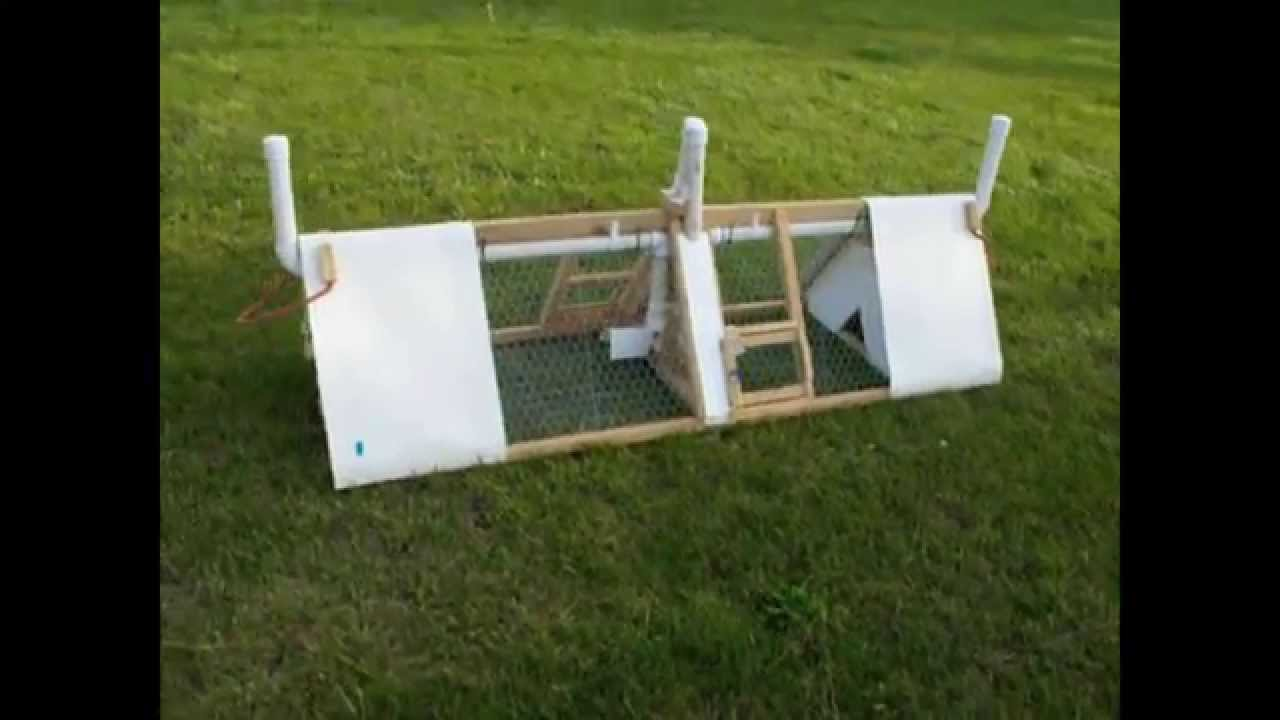 Quail Tractor Coturnix Double Cage Pen Outdoor Homemade