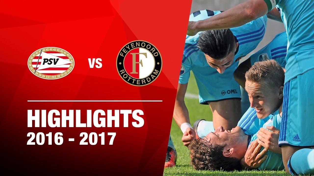 Samenvatting PSV - Feyenoord 2016-2017 - YouTube