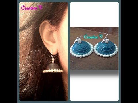 DIY / How to Make Quilling jhumkas at home  / Quilling earrings / Tutorial